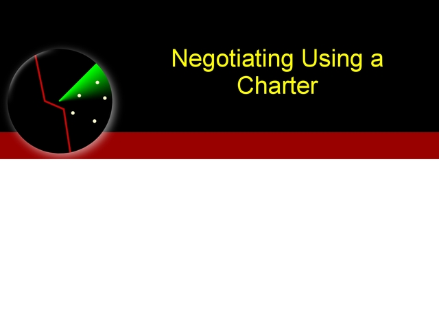 Negotiating Using a Charter